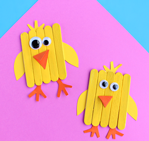 Easter fun kiddo chick sticks craft ideas for kids