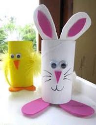 Easter egg toilet roll animals